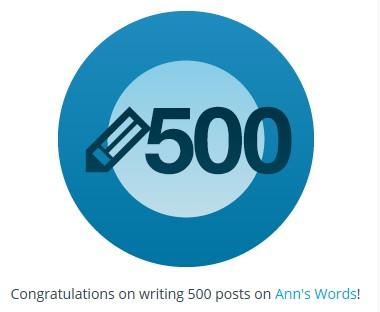 500 Posts!