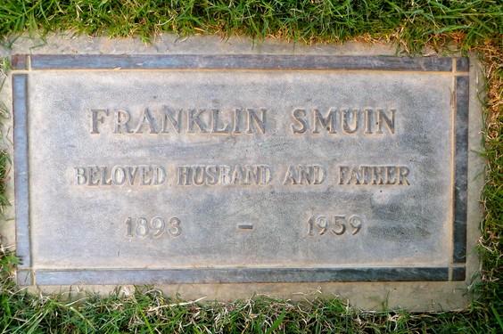 Smuin, Franklin headstone