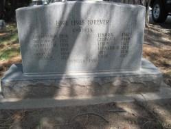 Holt, Mary Ann m. Barker, b. 1840 Headstone back, Ogden