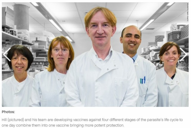 Malaria Dr Hill and team