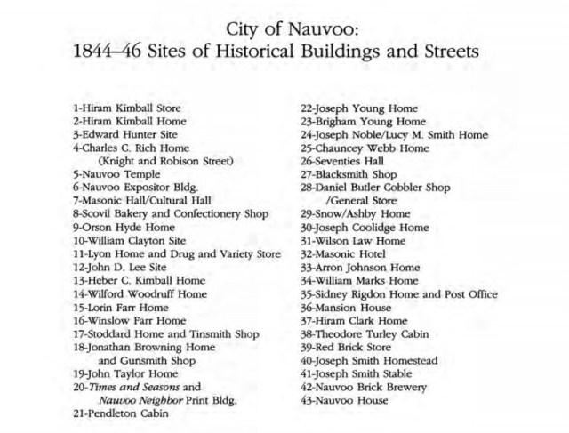 Nauvoo historical buildings