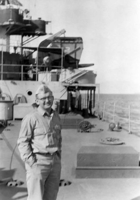 Ensign Frank Blair on ship