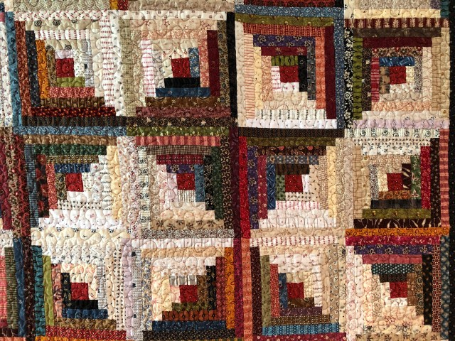 2019 Log Cabin Variation #3 by Ann Lewis (3)