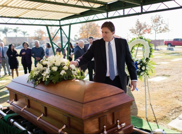 2019-11-23 Paul at Dad's Funeral