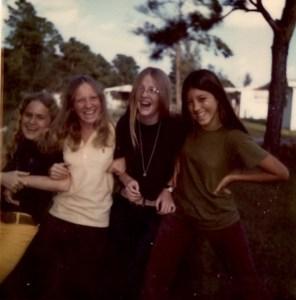 Mitzi, Denise, Tara, Aida in junior high, 1972