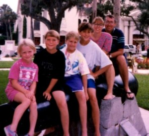 Jim & I and our progeny circa 1995