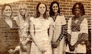 Homecoming Court: Patty Martin, Dale Ann Clark, Me, Teresa Raulerson, Debbie King
