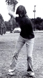 Mike working on his golf swing