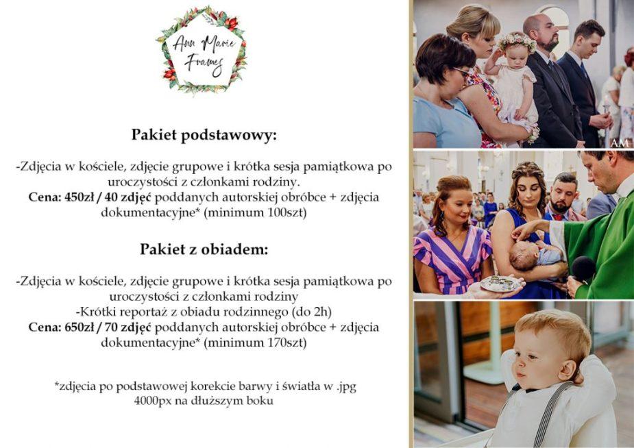 Cennik zdjęć na chrzcie Warszawa