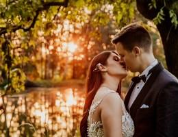 sesja ślubna w Parku Romantycznym Arkadia