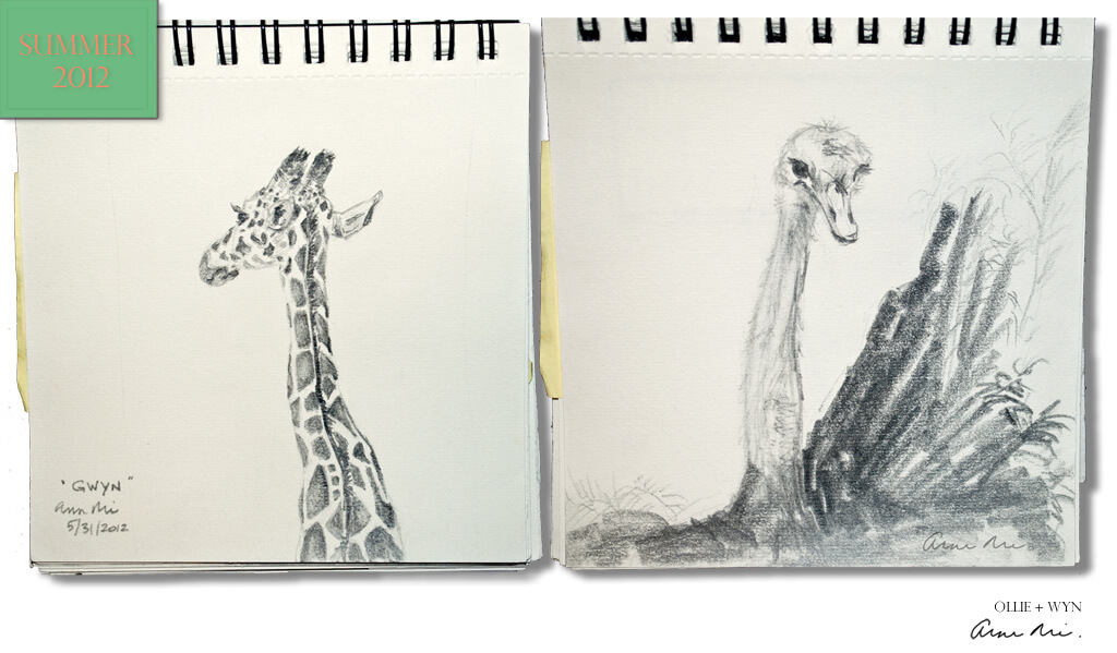 Ollie + Wyn Sketches, 2012