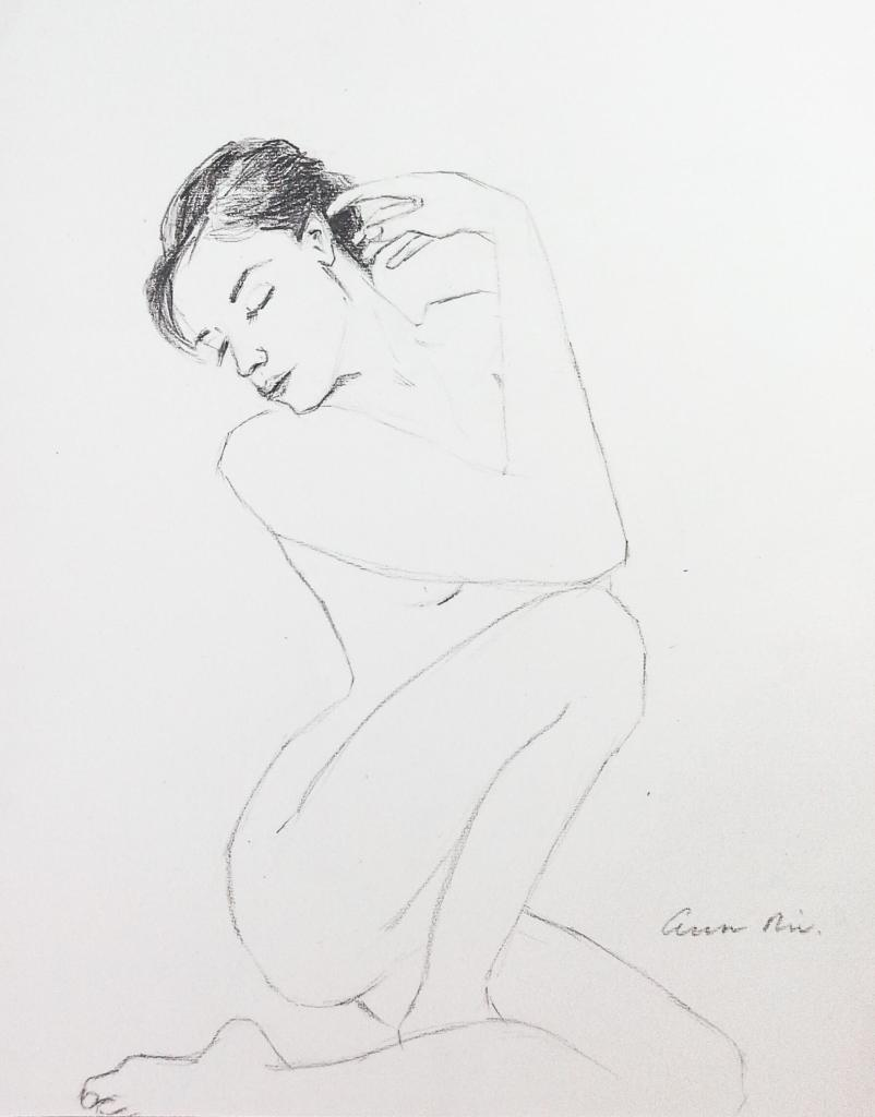 Female Figure Sketch, 2014