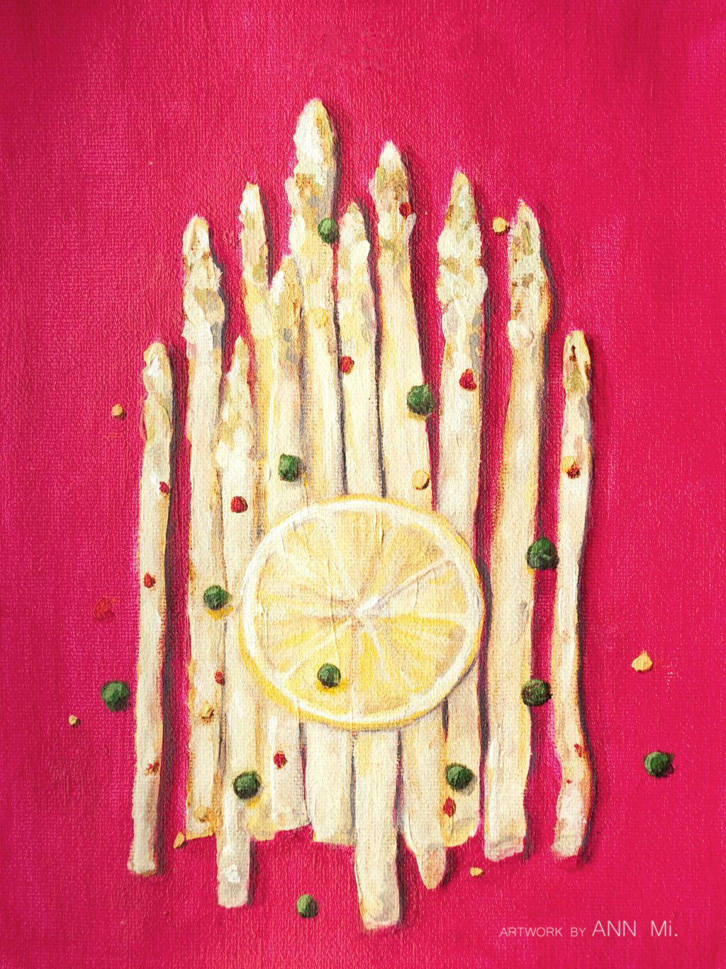 White Asparagus with Lemon Slice, Red Pepper Flakes, and Capers, 2011