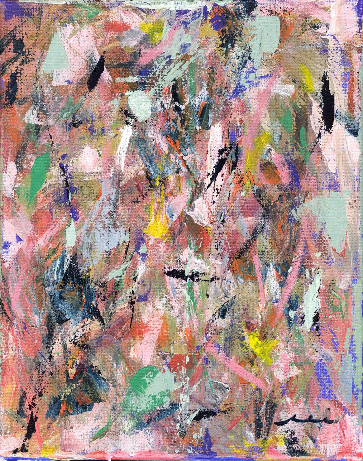 colorful abstract brushstrokes painting
