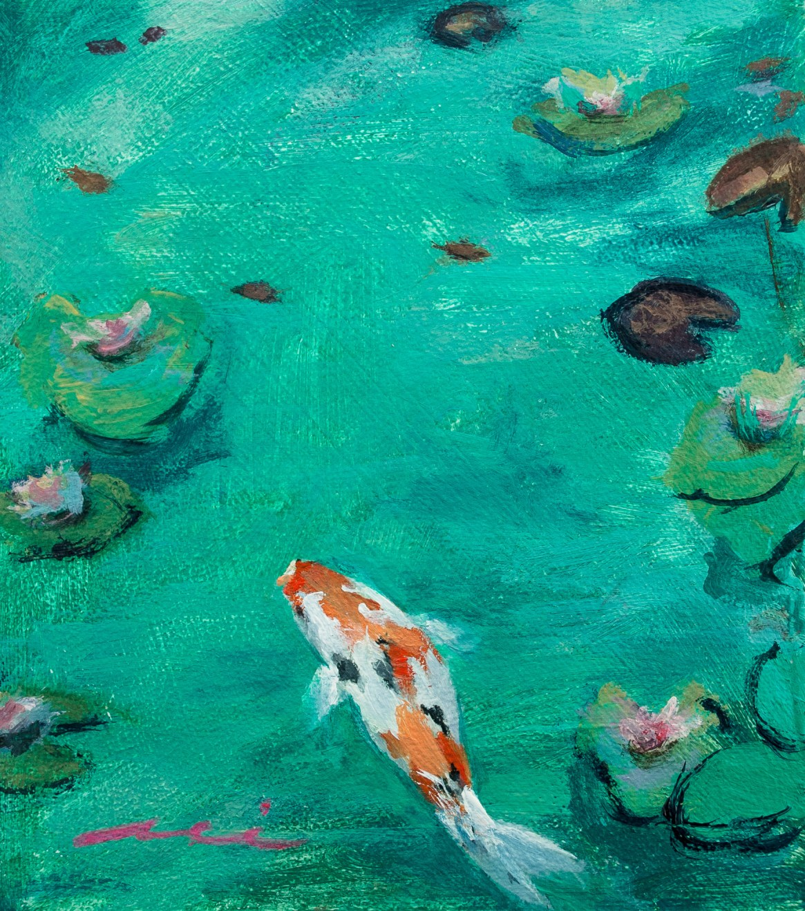 Koi in Water Garden, 2017
