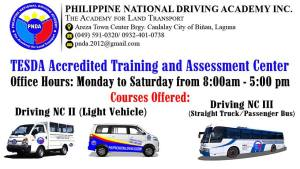 The Philippine National Driving Academy Inc., is giving free courses for Driving NC II and III!