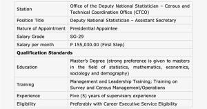 Psa Hiring Statisticians and Directors
