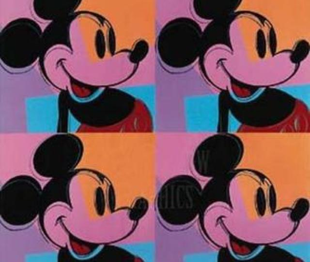 Andy Warhol He Is One Of The Most Famous Pop Artists Still Known Today Andy Warhol Is Known For Unique Art In This Piece Mickey Mouse He Uses Shape