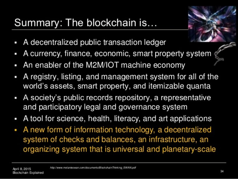 blockchain summary