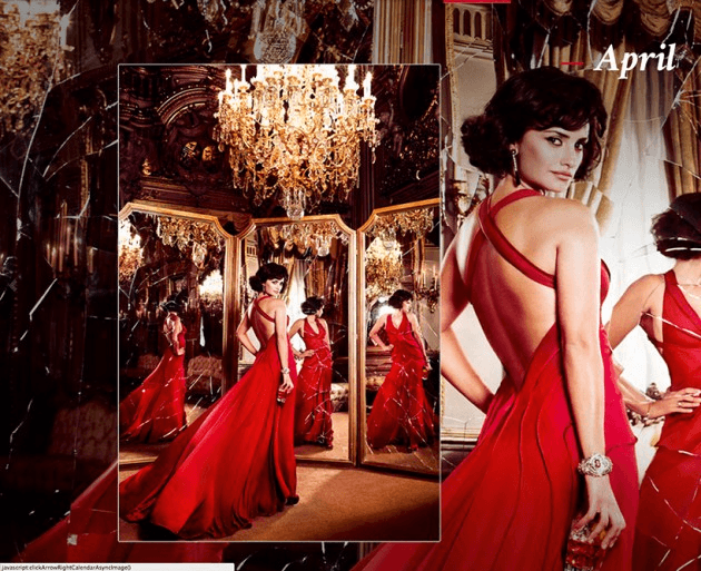 Campari_April-2013  Calendar starring Penelope Cruz by Fashion Photographer Kristian Schuller