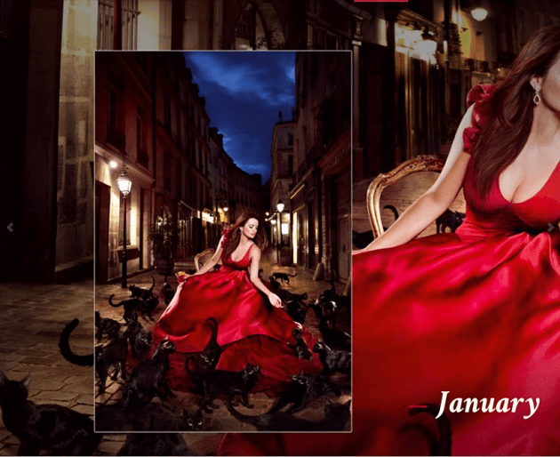 Campari_January-2013  Calendar starring Penelope Cruz by Fashion Photographer Kristian Schuller