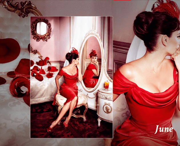 Campari_June-2013  Calendar starring Penelope Cruz by Fashion Photographer Kristian Schuller
