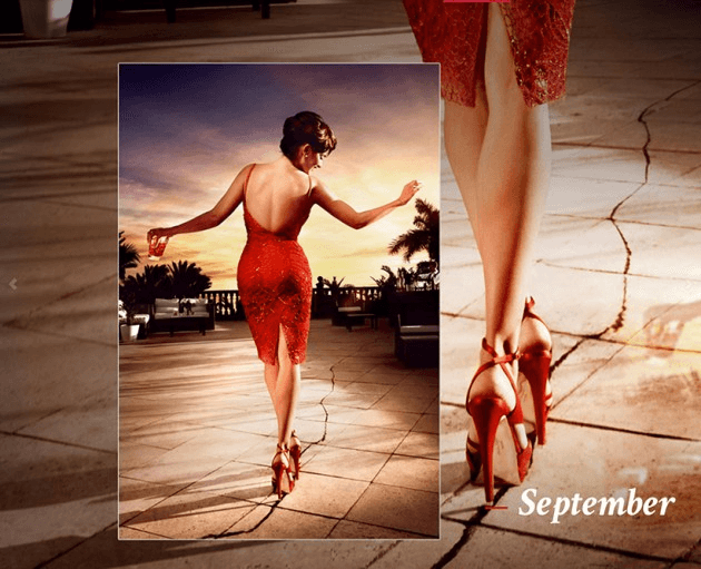 Campari_September-2013  Calendar starring Penelope Cruz