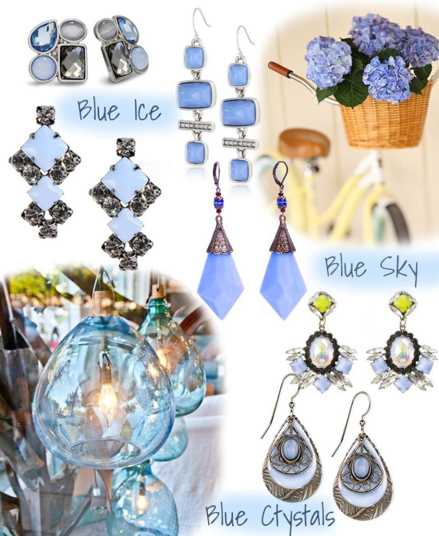 My Accessory Box: Sky Blue Earrings by Lauren Conrad, Chico's, Kenneth Cole, Tom Binns / Etsy / Bishop Boutique / Macy's