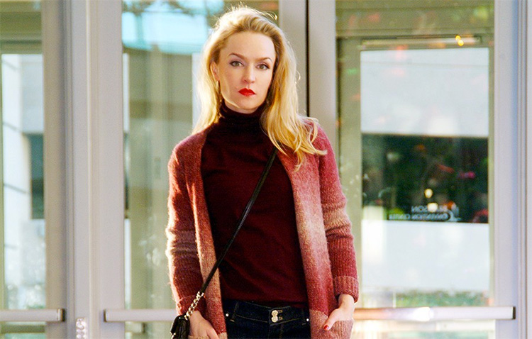 Winter style by blogger Ann Robie: wool cardigan forever 21, WHBM Jeans, Calvin Klein cross-body bag