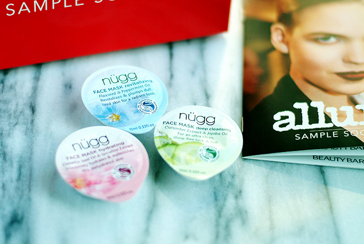 Beauty box: Allure Sample Society box, February 2015, face mask review by Ann Robie