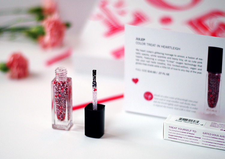 Glossybox February 2015: beauty reviews by AnnRobieFashion,  julep nail glitter