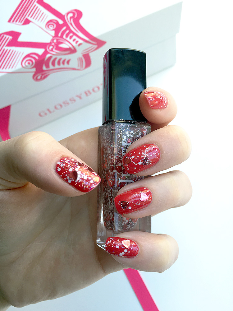 Glossybox February 2015: beauty reviews by AnnRobieFashion,  julep nail glitter, swatch