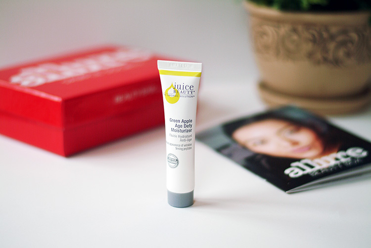 Allure Sample Society Beauty box March 2015 review by AnnRobieFashion, Juice Beauty moisturizer