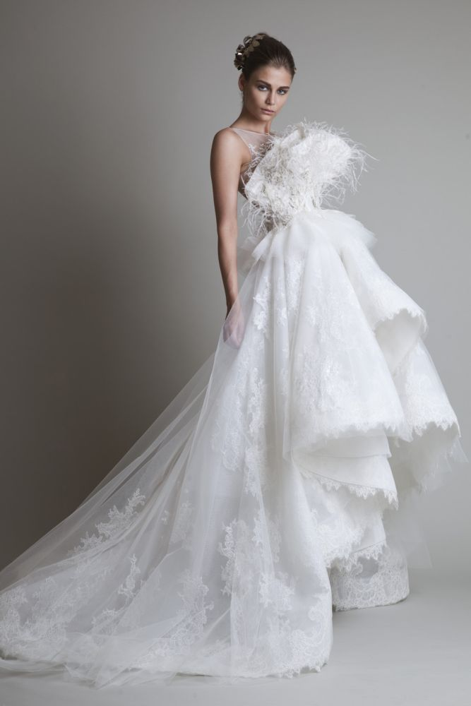 krikor Jabotian wedding white maxi dress fw 13/14