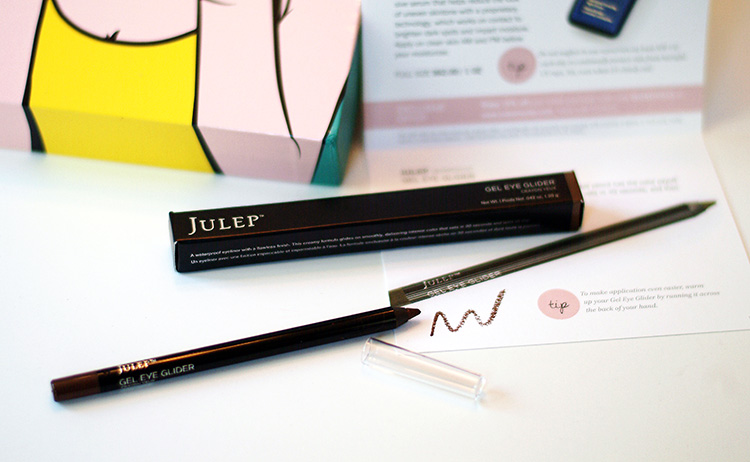 Glossybox April 2015 review by AnnRobieFashion: Gel eye pencil, Julep