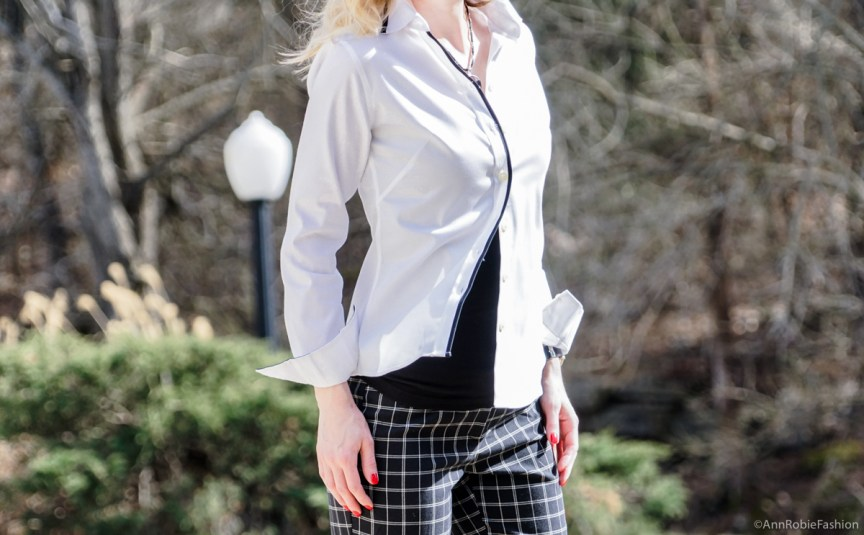 White buttoned down shirt Banana Republic by style blogger AnnRobieFashion