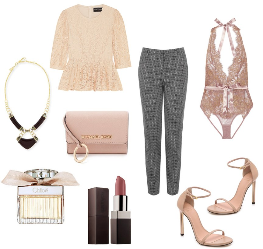 Nude lace - St.Valentine's Day outfit ideas by style blogger AnnRobieFashion