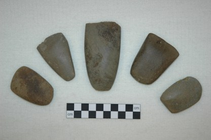 Axes from Ness of Brodgar, Orkney. Copyright ORCA