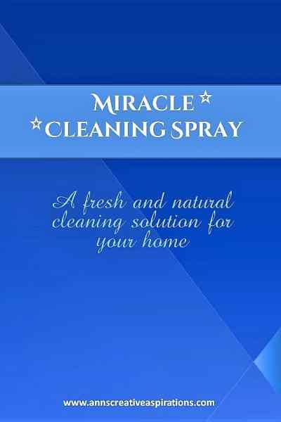 Miracle Spray: a fresh and natural cleaning solution