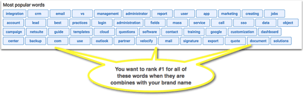 Search query brand