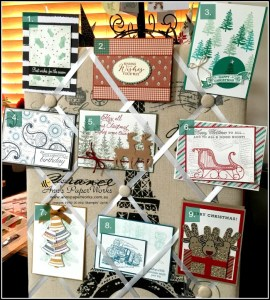 Handmade Christmas Cards, 2016 card buffet, Ann's PaperWorks| Ann Lewis| Stampin' Up! (Aus) available from my online store 24/7