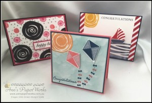 Swirly Birds June card making class Stampin' Up! Ann's PaperWorks Ann Lewis Stampin' Up! (Aus)