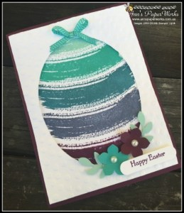 Work of Art Stamp Set Ester cardStampin' Up! Ann's PaperWorks Ann Lewis Stampin' Up! (Aus) 