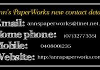 Ann's PaperWorks| Ann Lewis| Stampin' Up! (Aus) online store 24/7