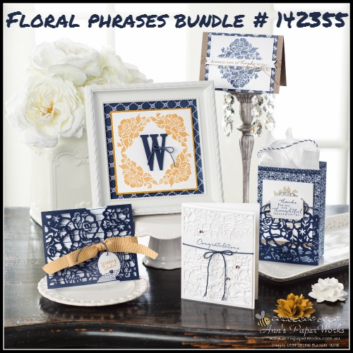 Floral Phrases Stamp Set and Bundle 2016-17 Stampin' Up! Catalogue Ann's PaperWorks Ann Lewis Stampin' Up! (Aus)| online store 24/7