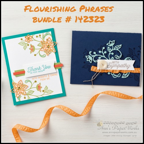 Flourishing Phrases Stamp Set and Bundle 2016-17 Stampin' Up! Catalogue Ann's PaperWorks Ann Lewis Stampin' Up! (Aus)  online store 24/7