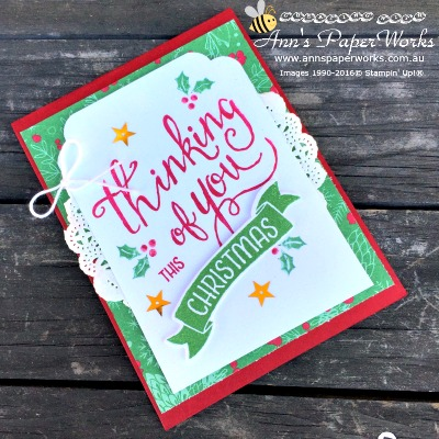 Time of Year, Christmas in July Series, Ann's PaperWorks| Ann Lewis| Stampin' Up! (Aus) online store 24/7