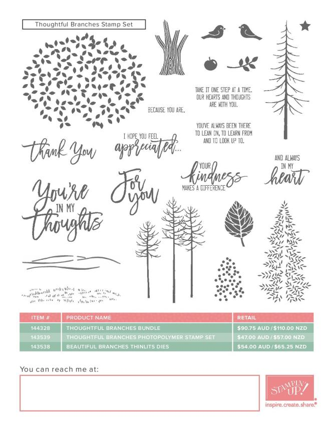 Thoughtful Branches Bundle | Ann's PaperWorks Ann Lewis Stampin' Up! (Aus)