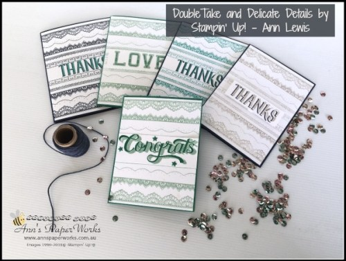 Sale-a-Bration Delicate Details Stamp Set and Double Take Stamp Set, Stampin' Up! Ann's PaperWorks, Ann Lewis, Stampin' Up! (Aus)|Stampin' Up! 2017 Occasions Catalogue| online store