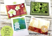 August Technique Teaser Creative Class, Background Glory, Stampin' Up! Ann's PaperWorks, Ann Lewis, Stampin' Up! (Aus)|Stampin' Up! 2017 Christmas Holiday Catalogue| online store 24/7